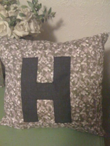 letter initial throw pillow