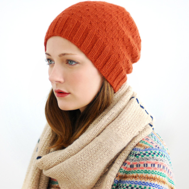 Gordy in a knit hat