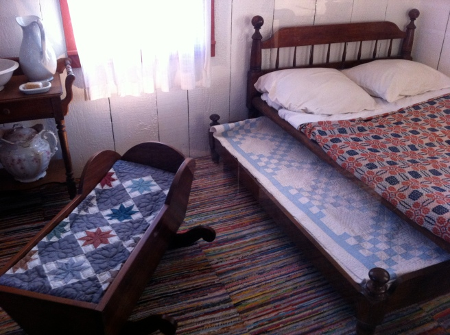 Beautiful quilts at Hoover's childhood home