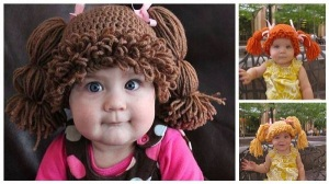 cabbage patch wig crochet pattern