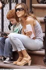 Sarah Jessica Parker so hippie-chic in her Hasbeens!