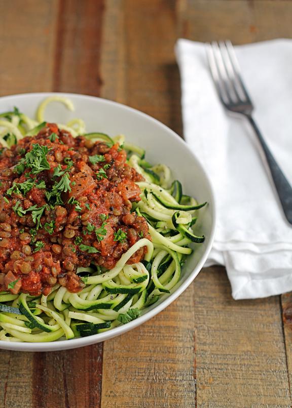 Lentil Zucchini Spaghetti from Insonnetskitchen.com