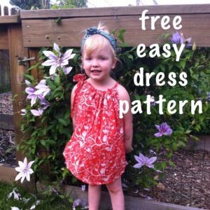free easy dress pattern for girl newborn