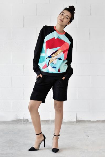 Zero Waste Daniel David Bowie upcycled sweatshirt